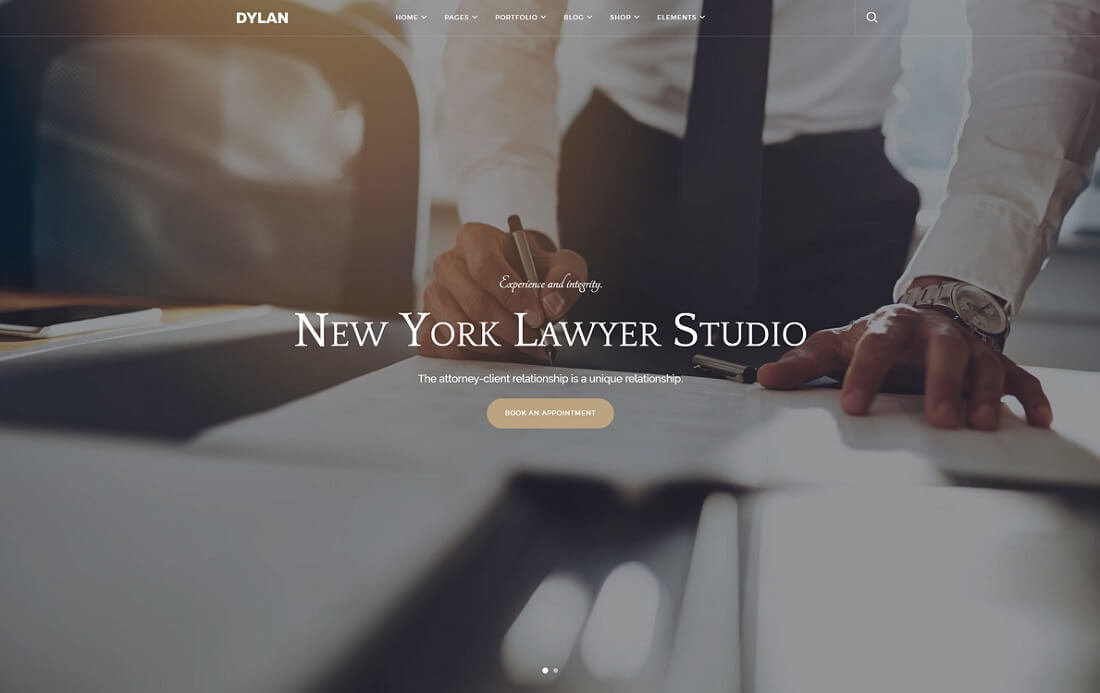 dylan HTML lawyer website template
