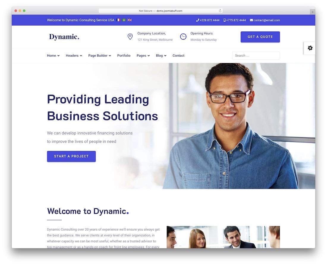 dynamic joomla multi-purpose business template