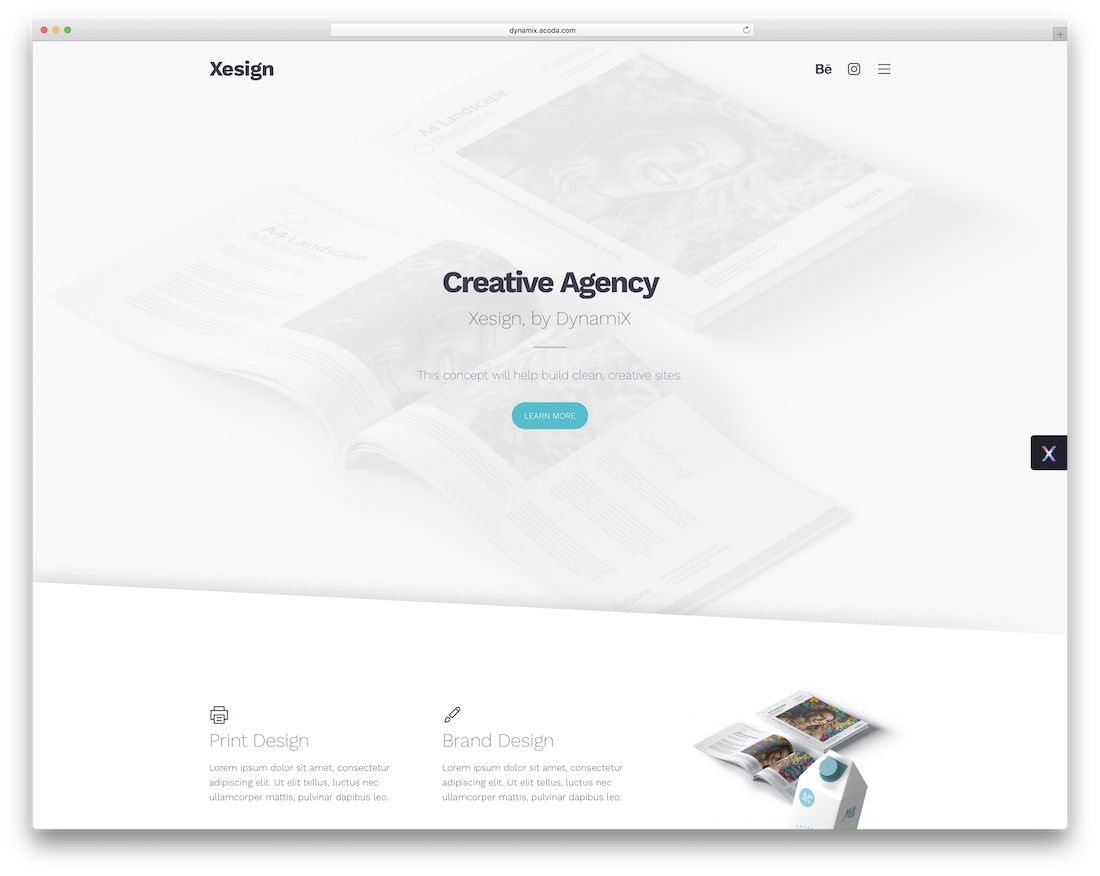 dynamix clean wordpress theme