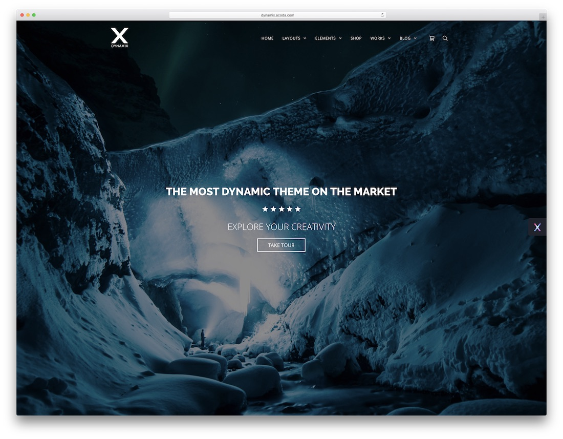 dynamix customizable wordpress theme