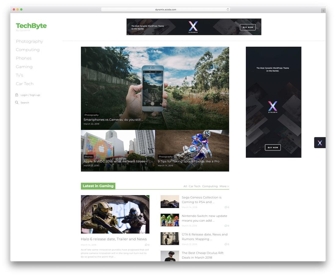 dynamix news wordpress theme