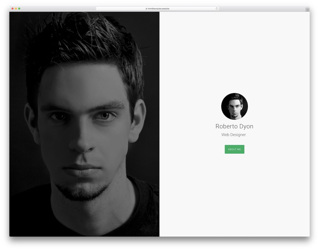 dyon resume website template