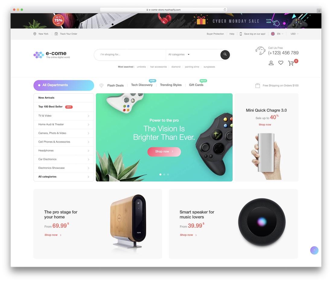 e-come shopify technology theme