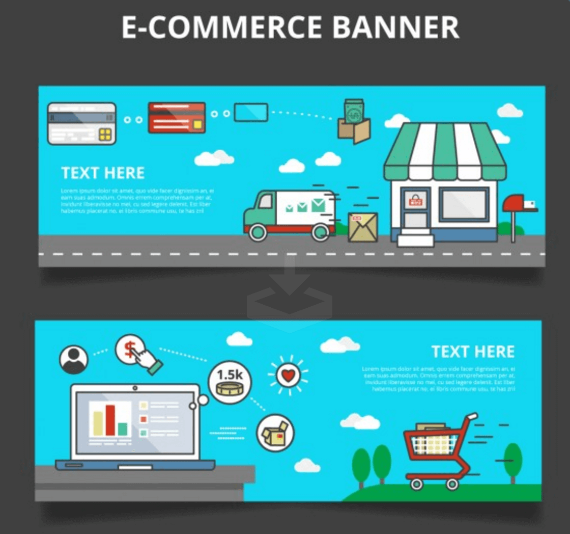 eCommerce Themed Set of Banners