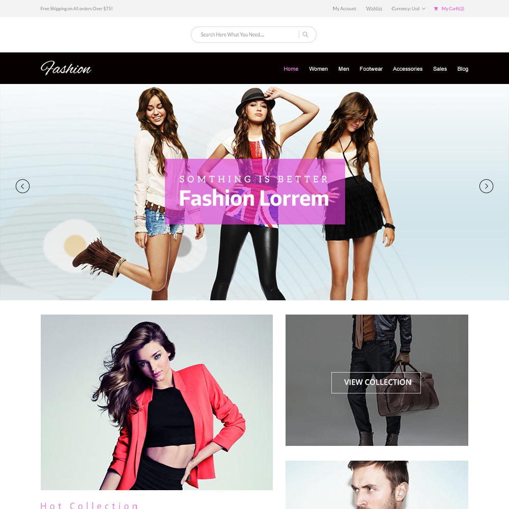 Free PSD eCommerce Fashion Template