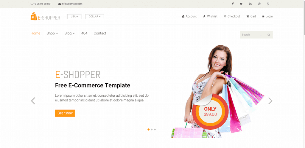 top 28 free ecommerce website templates built with bootstrap 2017