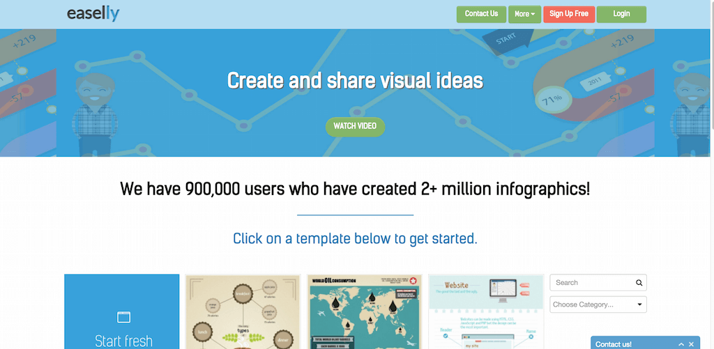 easel.ly create and share visual ideas online