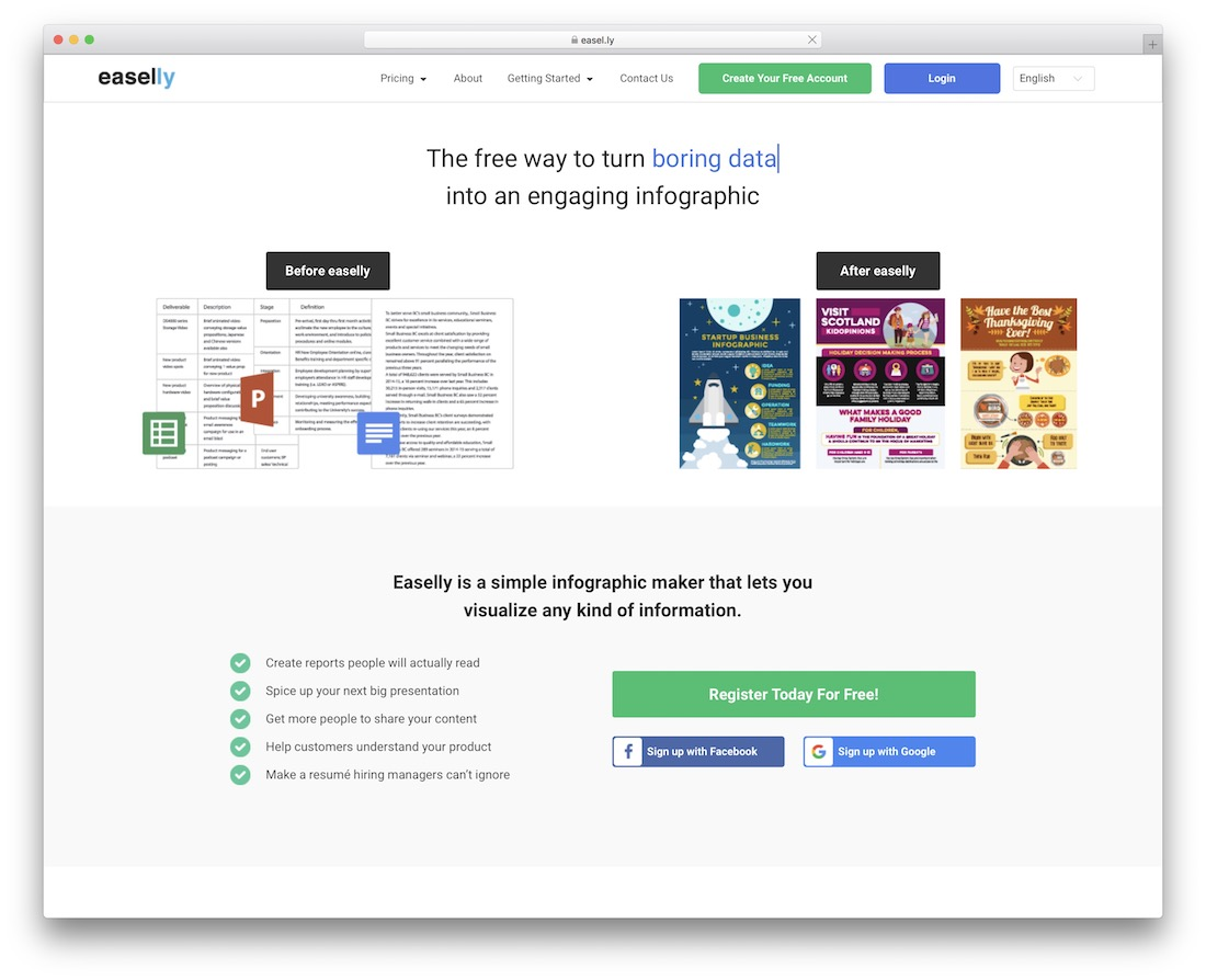 easelly tool for creating infographics