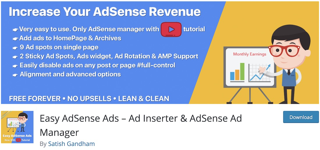 easy adsense ads scripts manager wordpress plugin