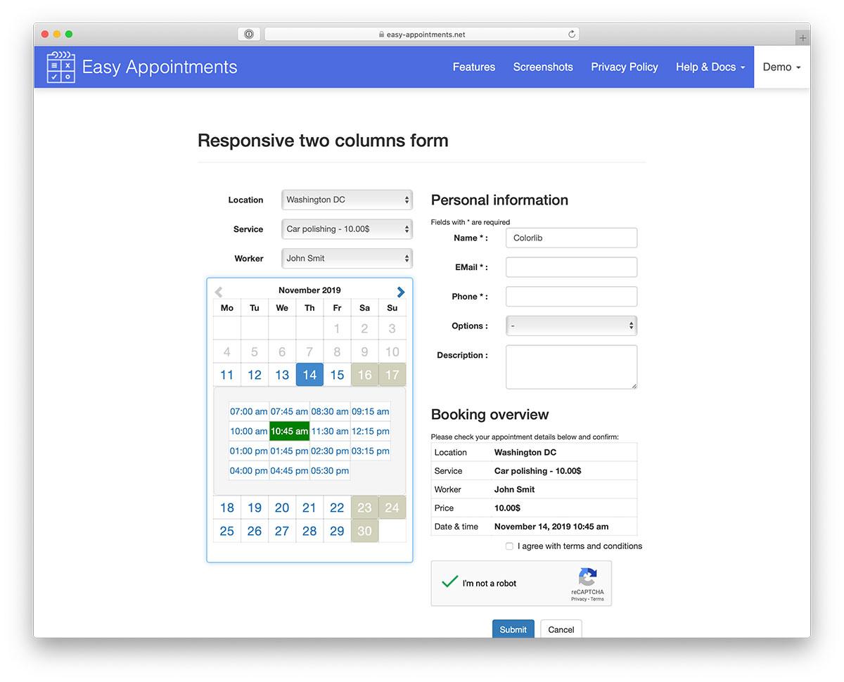 Appointment WordPress plugins