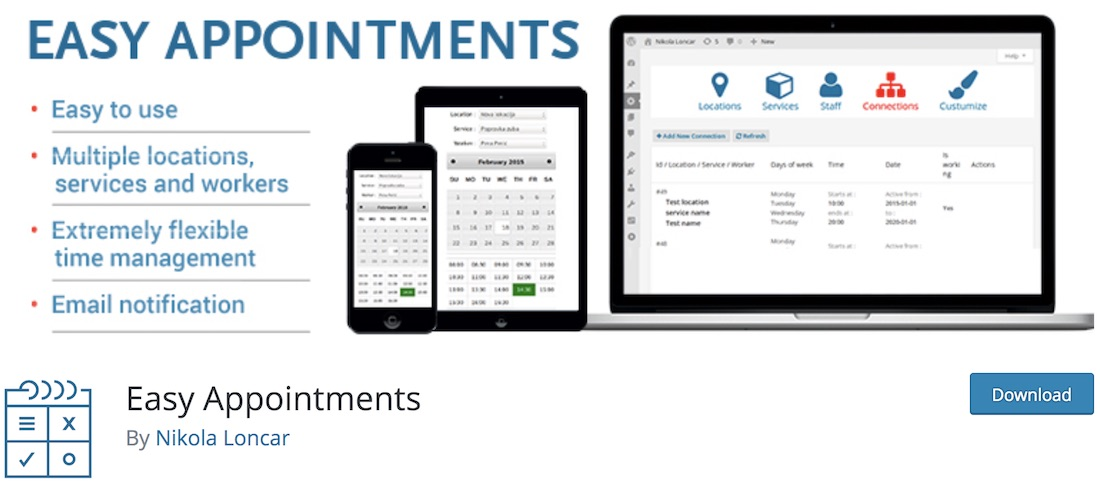 easy appointments wordpress plugin