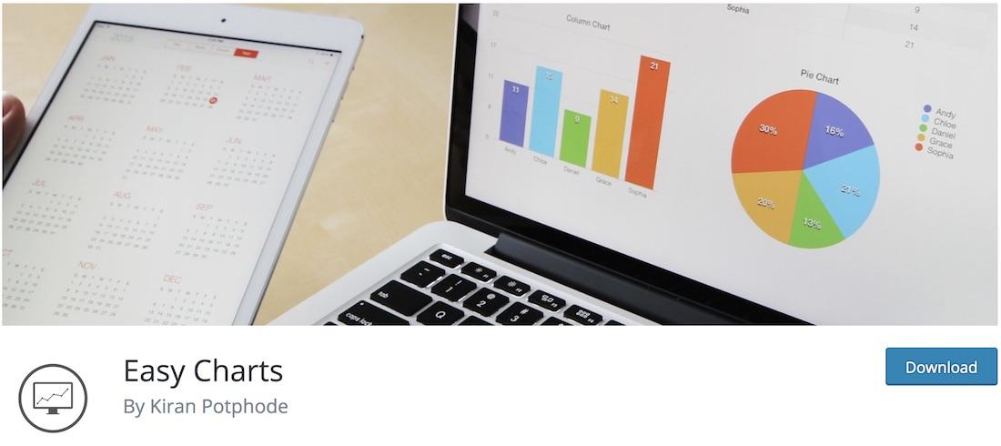 easy charts data visualization wordpress plugin