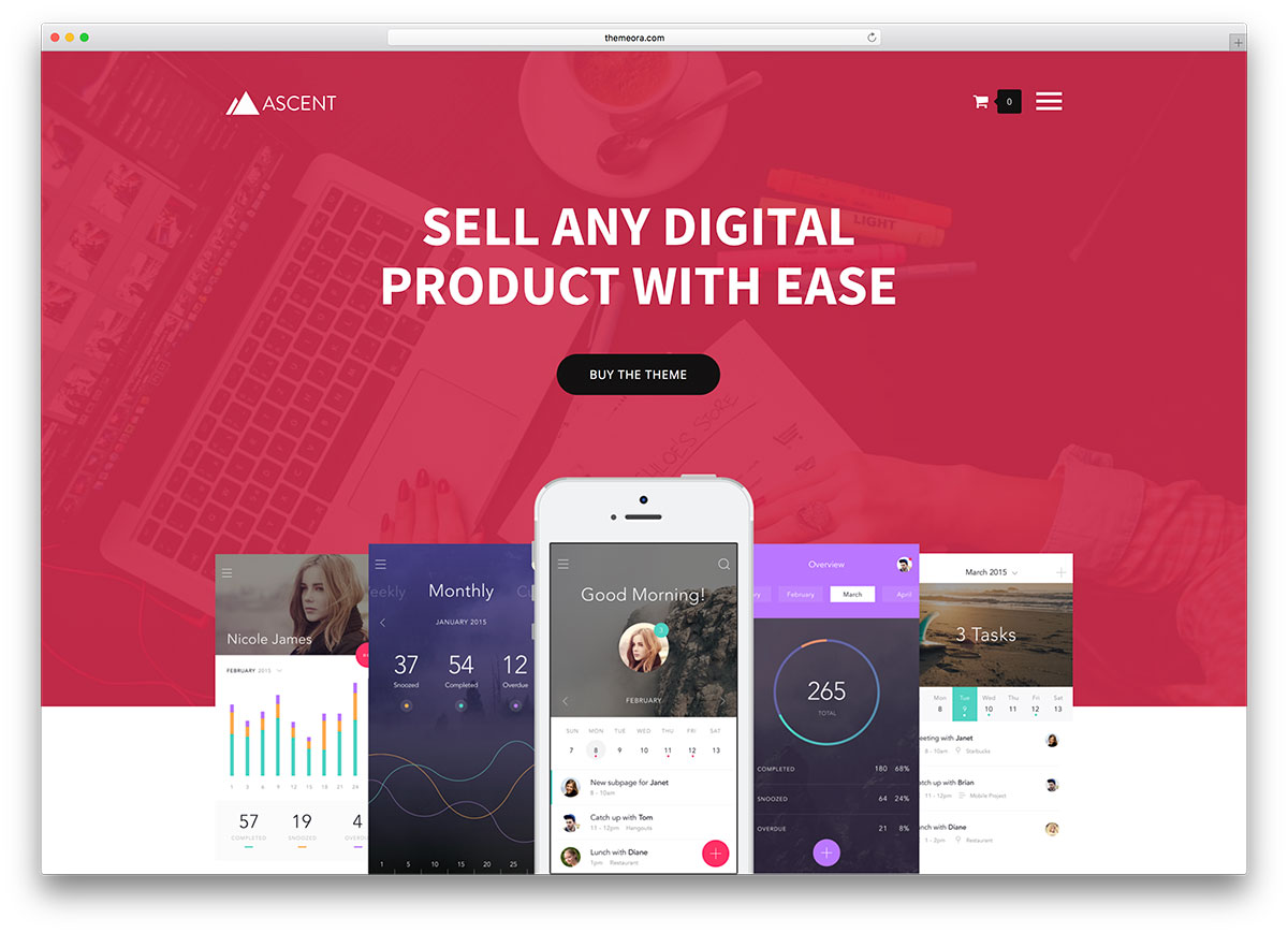 25 Easy Digital Download WordPress Themes To Sell Downloadable Products 2017