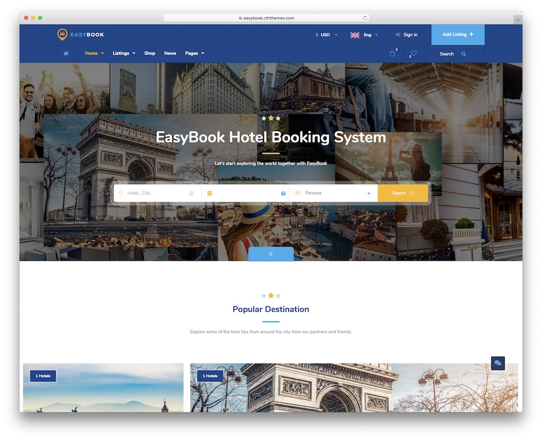 easybook membership website template
