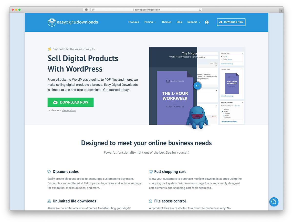 Sell Digital Downloads using WordPress