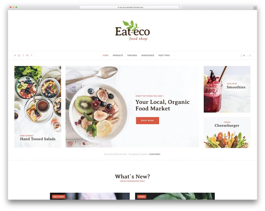 eat eco best food wordpress theme