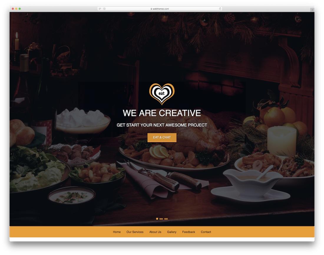 eat free restaurant website template