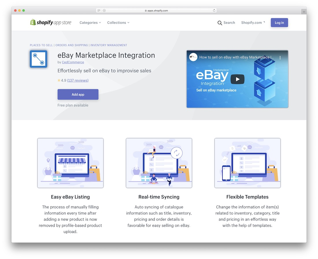 ebay shopify marketplace app
