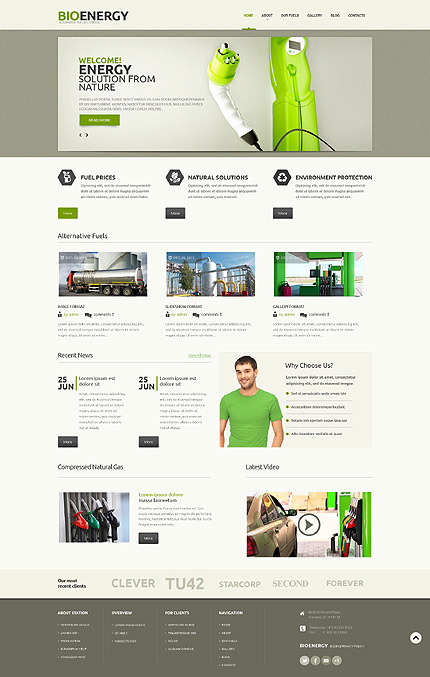 Biofuel Responsive WordPress Theme