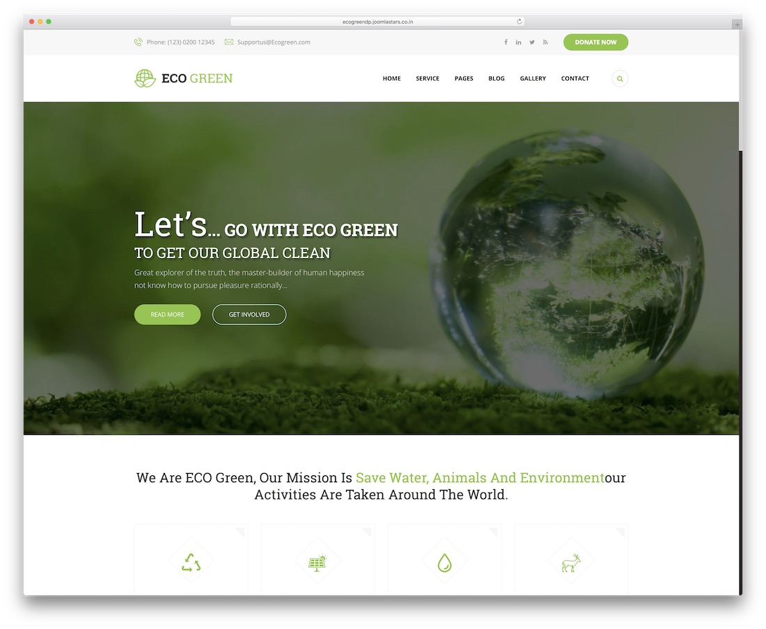 eco green drupal business template