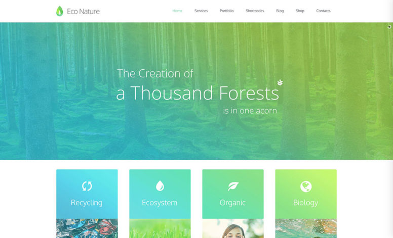 15 Green Eco-Friendly WordPress Themes For Green, Organic, Eco-Friendly Business, WooCommerce, Food Websites 2017