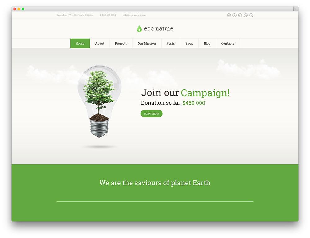 eco nature charity shop theme