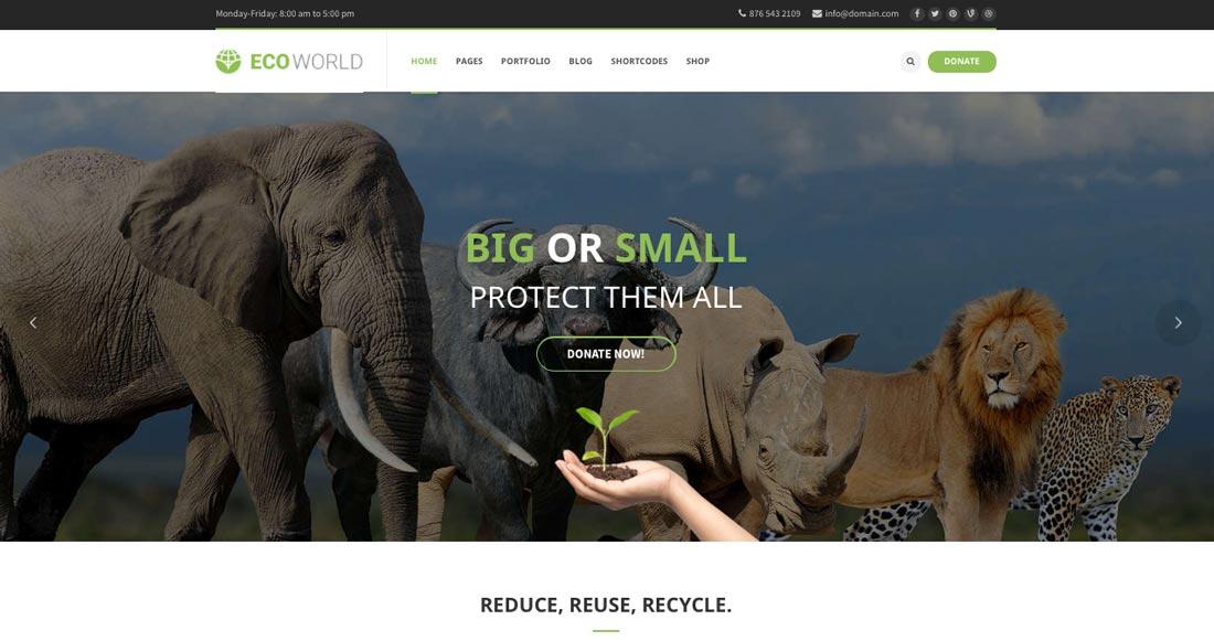premium nature wordpress theme