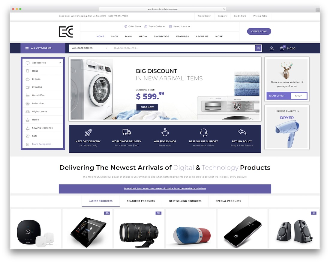 ecode technology woocommerce theme