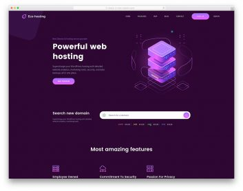 EcoHosting Free Template