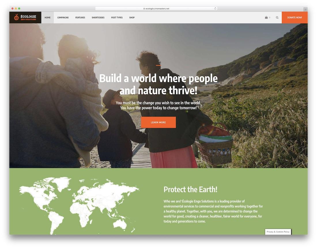 ecologie nature wordpress theme