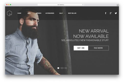 Ecommerce Adobe Muse Templates