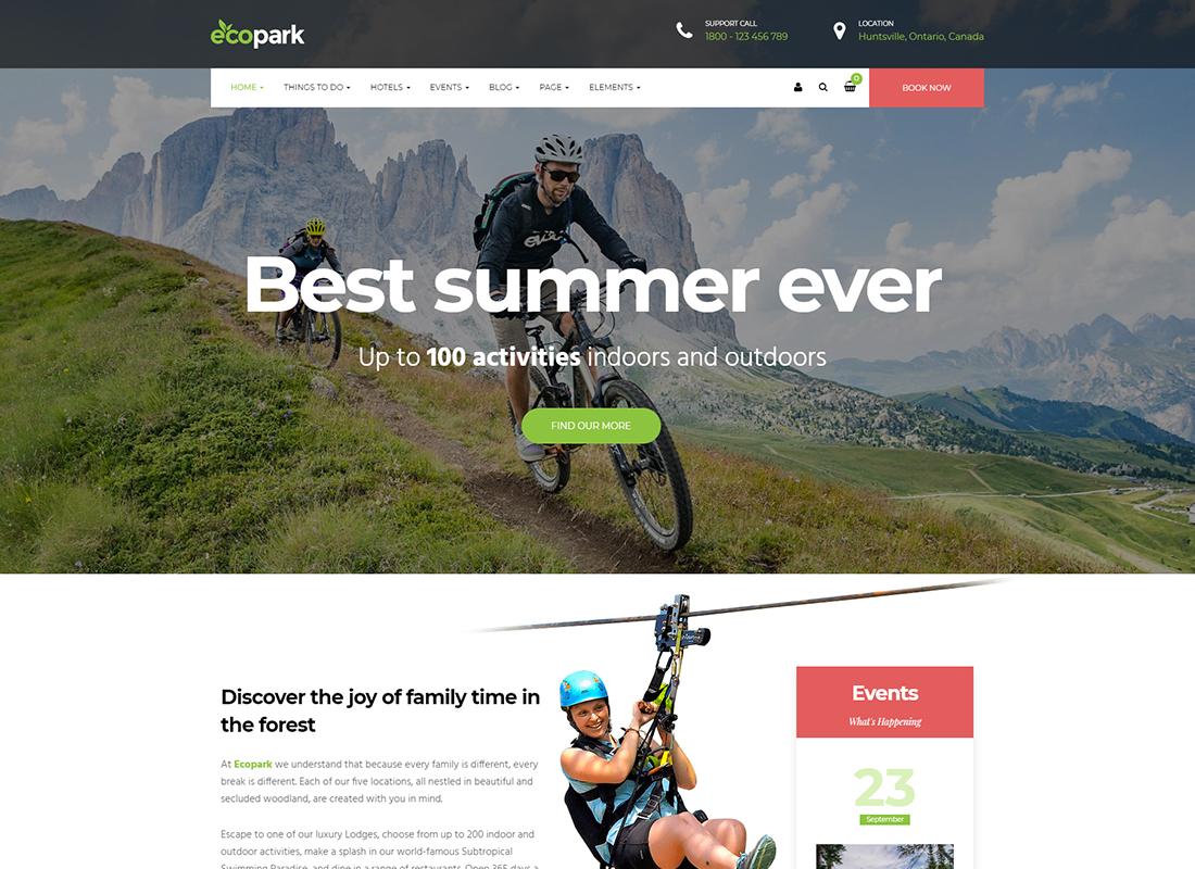 Ecopark - WordPress Theme for Tour, Vacation, Travel & Resort