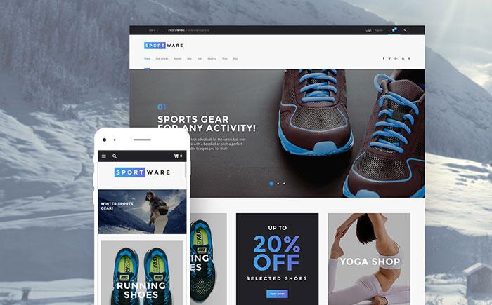 e - Sports Goods and Equipment WooCommerce Shop