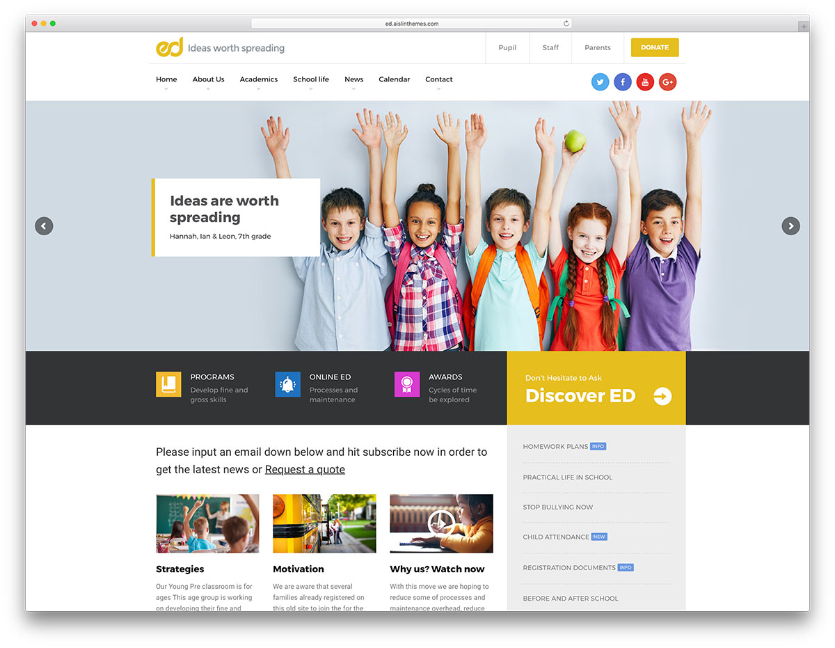 32 Awesome & Responsive WordPress Education Themes 2018