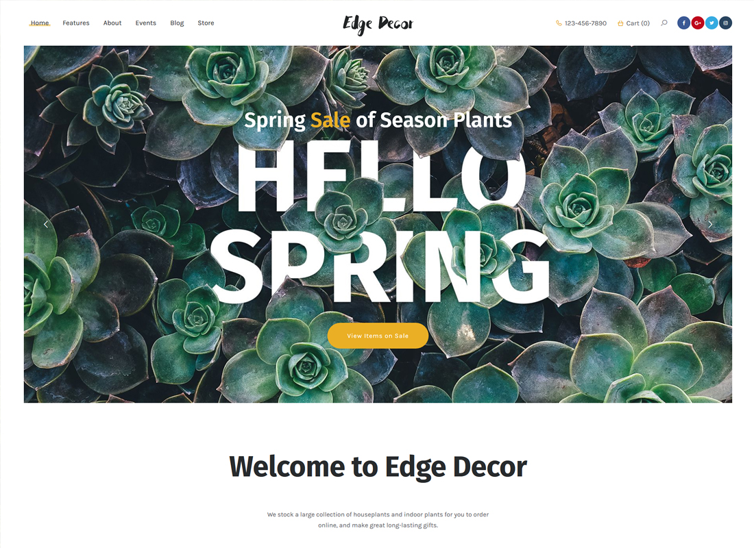 Edge Decor | A Modern Gardening & Landscaping WordPress Theme