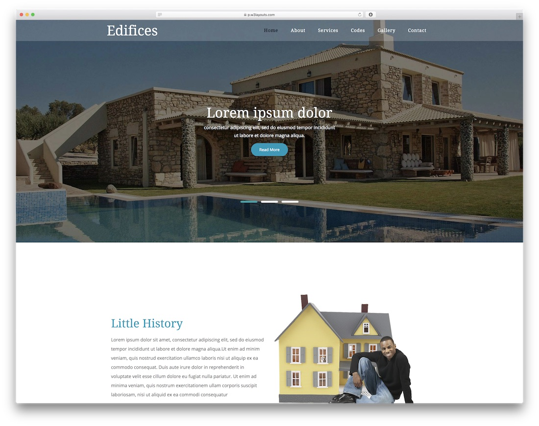 edifices free construction website template