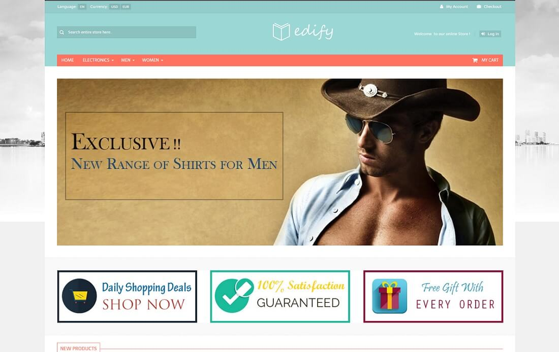 edify oscommerce template
