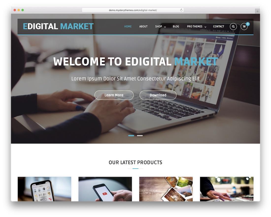 edigital market free wordpress theme