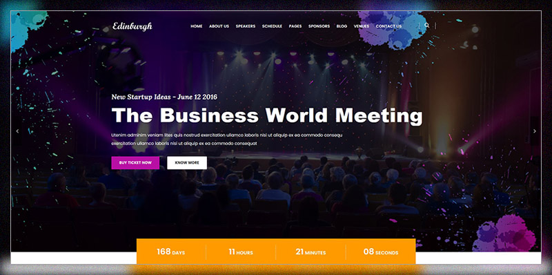 Edinburgh - Conference & Event WordPress Theme