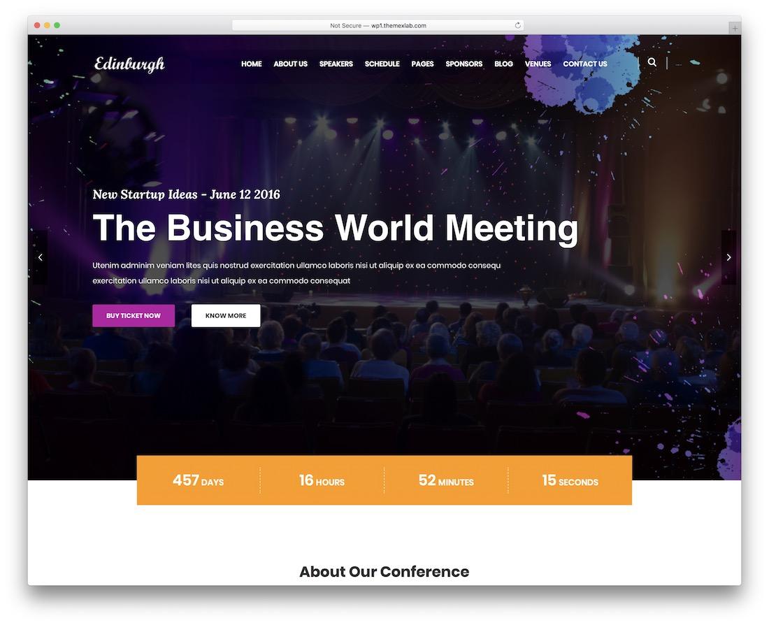 edinburgh event planner wordpress theme