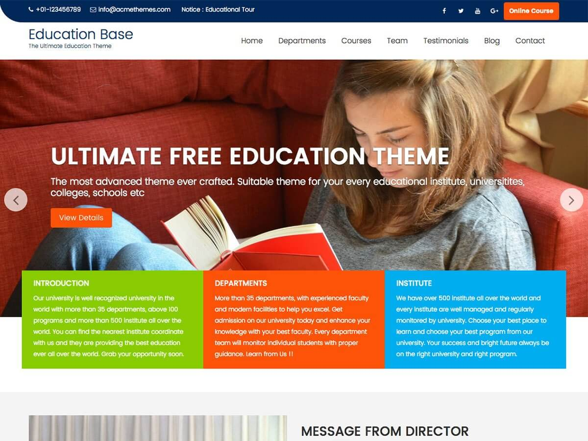 Education Base WordPress Education Theme