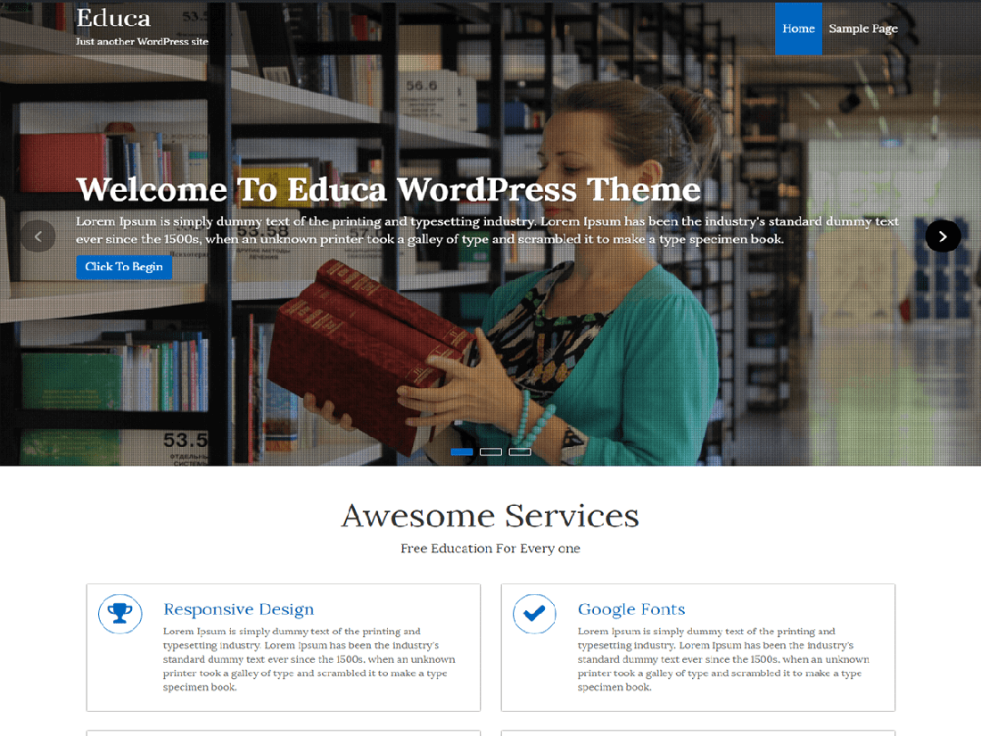 Educa WordPress Education Theme