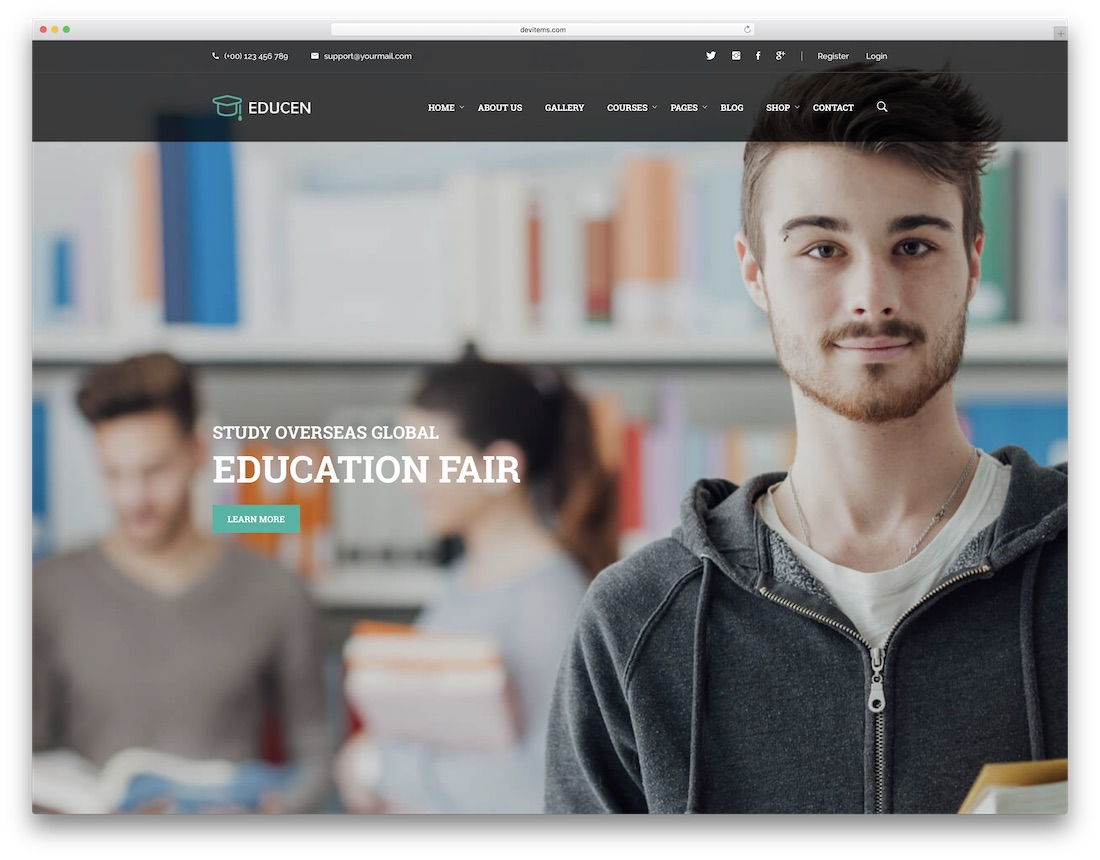 educan school website template