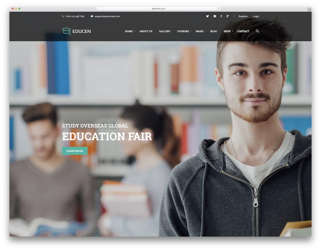 educan school website template