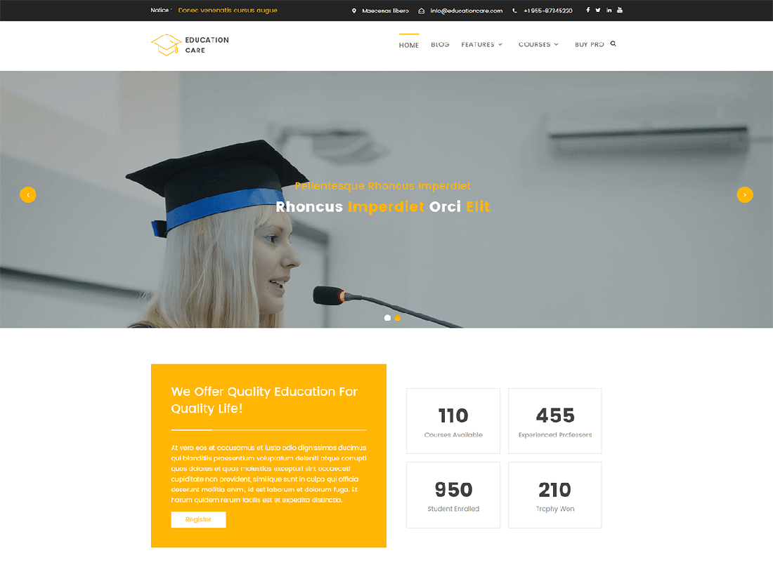 Education Care WordPress Education Theme