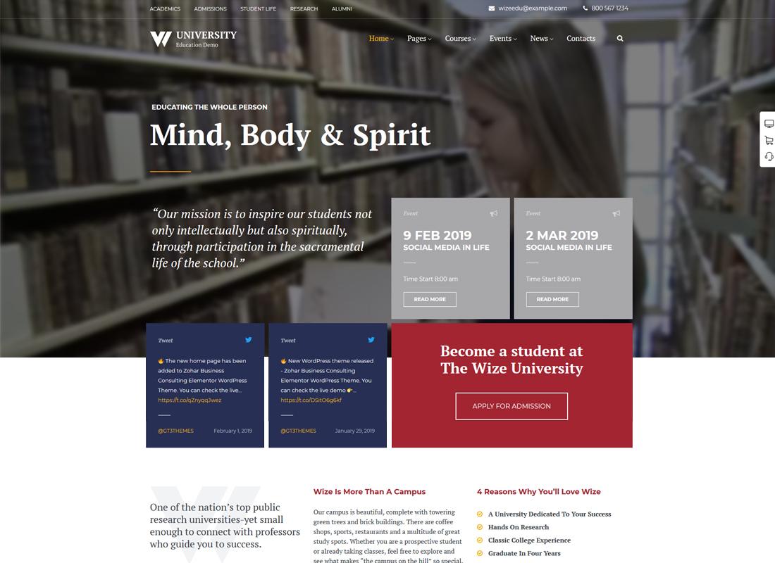Education | Courses & Events LMS WordPress Theme - WizeEdu