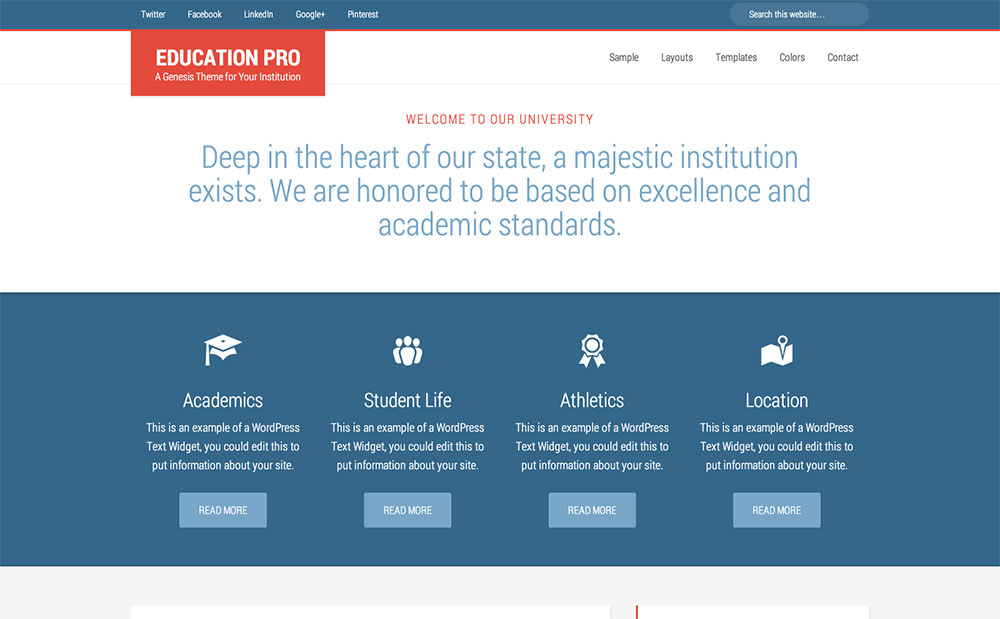 education - genesis education theme