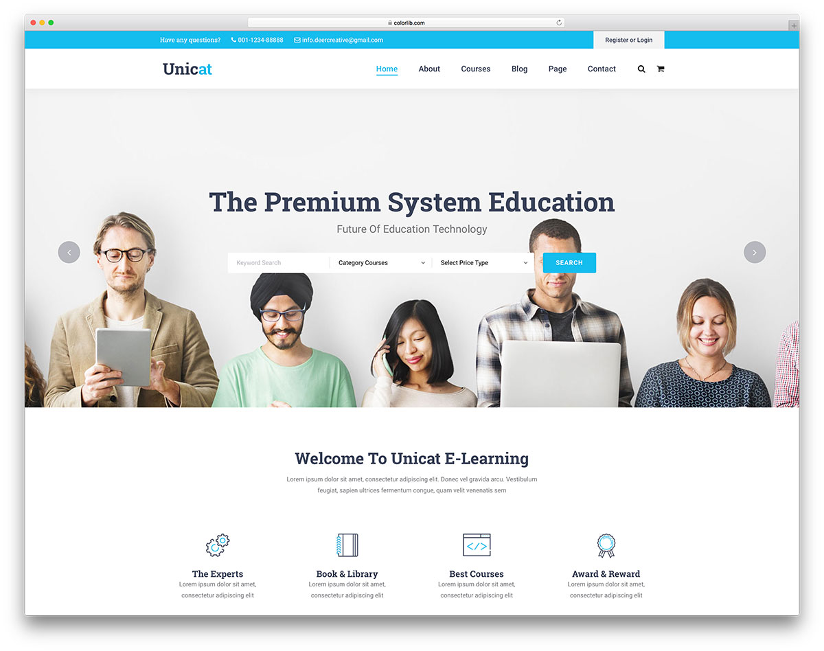 26 best free and premium education website templates 2018 colorlib