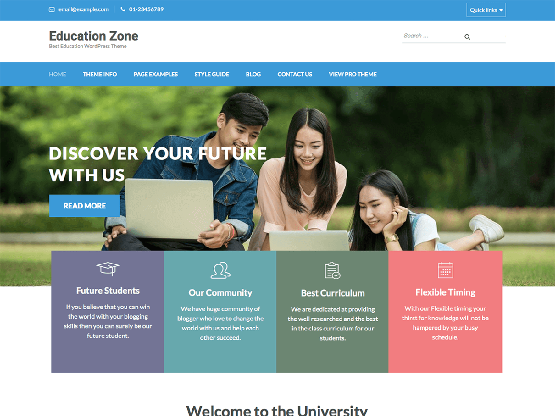 Education Zone WordPress Education Theme