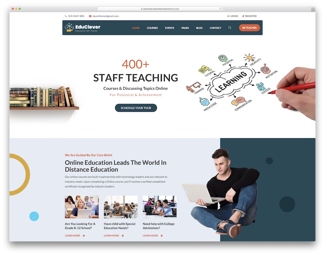 educlever brightest education wordpress theme